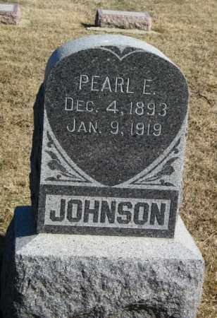 JOHNSON, PEARL E - Lincoln County, South Dakota   PEARL E JOHNSON - South Dakota Gravestone Photos