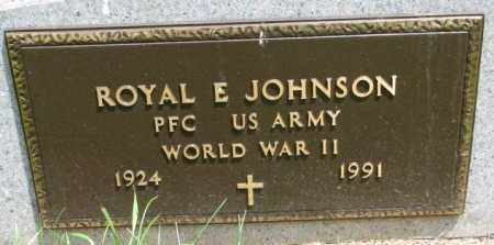 JOHNSON, ROYAL E. (WW II) - Lincoln County, South Dakota | ROYAL E. (WW II) JOHNSON - South Dakota Gravestone Photos