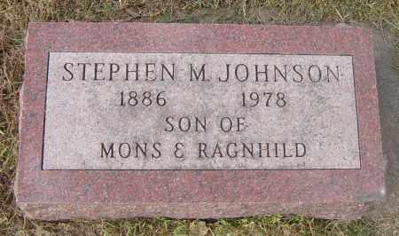 JOHNSON, STEPHEN M - Lincoln County, South Dakota | STEPHEN M JOHNSON - South Dakota Gravestone Photos