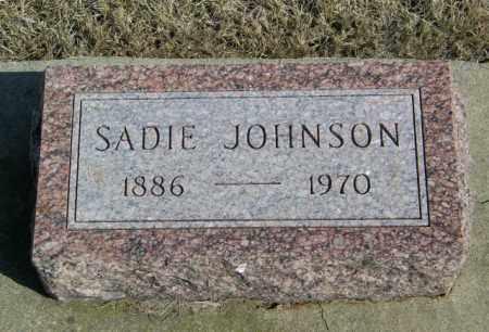 JOHNSON, SADIE - Lincoln County, South Dakota | SADIE JOHNSON - South Dakota Gravestone Photos