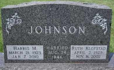 JOHNSON, HARRIS MELVIN - Lincoln County, South Dakota | HARRIS MELVIN JOHNSON - South Dakota Gravestone Photos