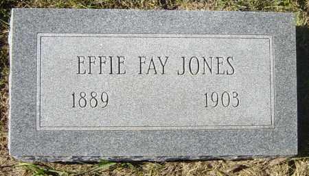 JONES, EFFIE FAY - Lincoln County, South Dakota | EFFIE FAY JONES - South Dakota Gravestone Photos