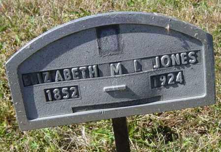 JONES, ELIZABETH M L - Lincoln County, South Dakota | ELIZABETH M L JONES - South Dakota Gravestone Photos