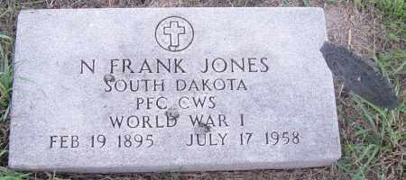 JONES MILITARY, N FRANK - Lincoln County, South Dakota | N FRANK JONES MILITARY - South Dakota Gravestone Photos