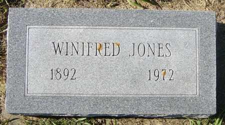 JONES, WINIFRED - Lincoln County, South Dakota   WINIFRED JONES - South Dakota Gravestone Photos