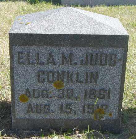 JUDD-CONKLIN, ELLA M - Lincoln County, South Dakota | ELLA M JUDD-CONKLIN - South Dakota Gravestone Photos