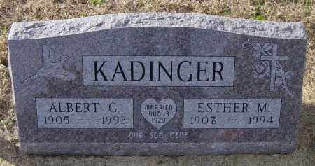 KADINGER, ESTHER M - Lincoln County, South Dakota | ESTHER M KADINGER - South Dakota Gravestone Photos