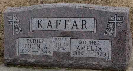 KAFFAR, AMELIA - Lincoln County, South Dakota   AMELIA KAFFAR - South Dakota Gravestone Photos