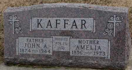 KAFFAR, AMELIA - Lincoln County, South Dakota | AMELIA KAFFAR - South Dakota Gravestone Photos