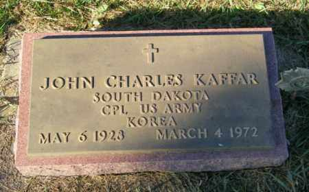 KAFFAR, JOHN CHARLES - Lincoln County, South Dakota   JOHN CHARLES KAFFAR - South Dakota Gravestone Photos