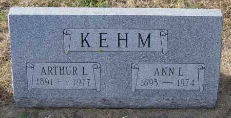 KEHM, ARTHUR L - Lincoln County, South Dakota   ARTHUR L KEHM - South Dakota Gravestone Photos