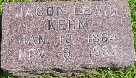 KEHM, JACOB LEWIS - Lincoln County, South Dakota | JACOB LEWIS KEHM - South Dakota Gravestone Photos