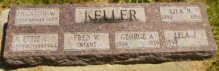 KELLER, FRED W - Lincoln County, South Dakota | FRED W KELLER - South Dakota Gravestone Photos