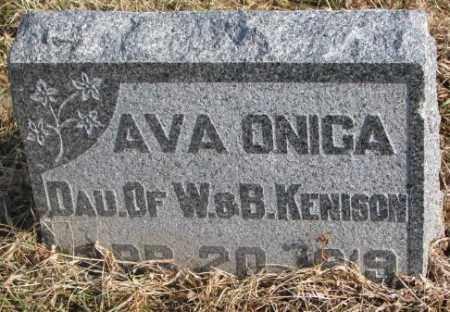 KENISON, AVA ONIGA - Lincoln County, South Dakota | AVA ONIGA KENISON - South Dakota Gravestone Photos