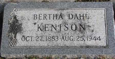 DAHL KENISON, BERTHA - Lincoln County, South Dakota | BERTHA DAHL KENISON - South Dakota Gravestone Photos