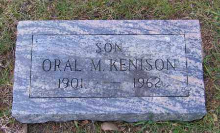 KENISON, ORAL M. - Lincoln County, South Dakota | ORAL M. KENISON - South Dakota Gravestone Photos