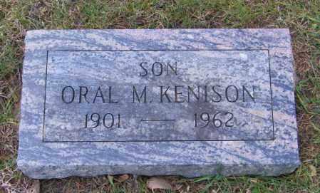 KENISON, ORAL M. - Lincoln County, South Dakota | ORAL M. KENISON - South Dakota Gravestone Photos