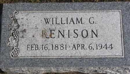 KENISON, WILLIAM G. - Lincoln County, South Dakota | WILLIAM G. KENISON - South Dakota Gravestone Photos