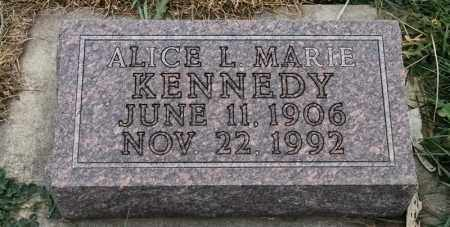 KENNEDY, ALICE L MARIE - Lincoln County, South Dakota | ALICE L MARIE KENNEDY - South Dakota Gravestone Photos