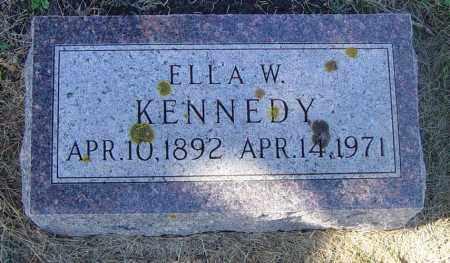 KENNEDY, ELLA W - Lincoln County, South Dakota | ELLA W KENNEDY - South Dakota Gravestone Photos