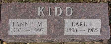 KIDD, FANNIE M. - Lincoln County, South Dakota   FANNIE M. KIDD - South Dakota Gravestone Photos