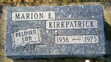 KIRKPATRICK, MARION E. - Lincoln County, South Dakota | MARION E. KIRKPATRICK - South Dakota Gravestone Photos