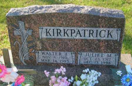 KIRKPATRICK, JULIET M. - Lincoln County, South Dakota | JULIET M. KIRKPATRICK - South Dakota Gravestone Photos