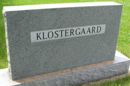 KLOSTERGAARD, FAMILY PLOT MARKER - Lincoln County, South Dakota | FAMILY PLOT MARKER KLOSTERGAARD - South Dakota Gravestone Photos