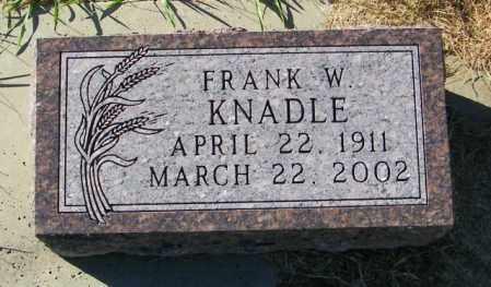KNADLE, FRANK W. - Lincoln County, South Dakota | FRANK W. KNADLE - South Dakota Gravestone Photos