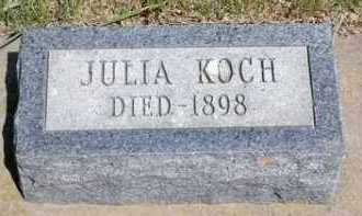 RICKERT KOCH, JULIA - Lincoln County, South Dakota | JULIA RICKERT KOCH - South Dakota Gravestone Photos
