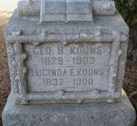 KOONS, GEORGE B. - Lincoln County, South Dakota | GEORGE B. KOONS - South Dakota Gravestone Photos