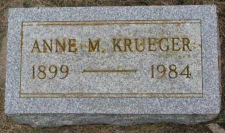 KRUEGER, ANNE M. - Lincoln County, South Dakota   ANNE M. KRUEGER - South Dakota Gravestone Photos