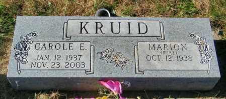 KRUID, CAROLE E - Lincoln County, South Dakota | CAROLE E KRUID - South Dakota Gravestone Photos