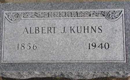 KUHNS, ALBERT J. - Lincoln County, South Dakota | ALBERT J. KUHNS - South Dakota Gravestone Photos