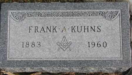 KUHNS, FRANK A. - Lincoln County, South Dakota | FRANK A. KUHNS - South Dakota Gravestone Photos