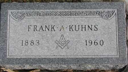 KUHNS, FRANK A. - Lincoln County, South Dakota | FRANK A. KUHNS - South Dakota Gravestone Photos