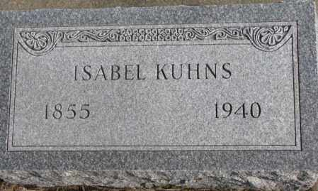 KUHNS, ISABEL - Lincoln County, South Dakota | ISABEL KUHNS - South Dakota Gravestone Photos