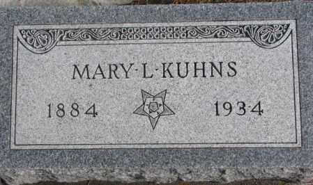 KUHNS, MARY L. - Lincoln County, South Dakota   MARY L. KUHNS - South Dakota Gravestone Photos