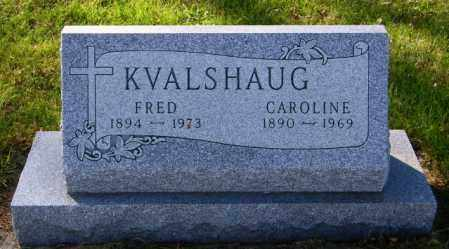 KVALSHAUG, CAROLINE - Lincoln County, South Dakota | CAROLINE KVALSHAUG - South Dakota Gravestone Photos
