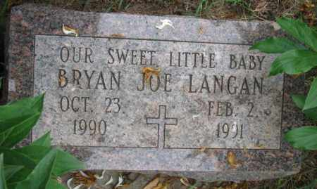LANGAN, BRYAN JOE - Lincoln County, South Dakota | BRYAN JOE LANGAN - South Dakota Gravestone Photos