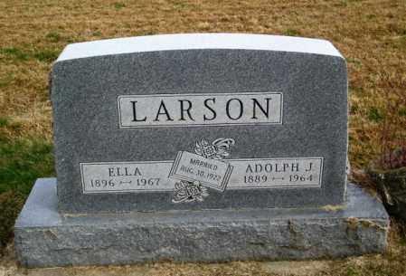 LARSON, ELLA - Lincoln County, South Dakota | ELLA LARSON - South Dakota Gravestone Photos