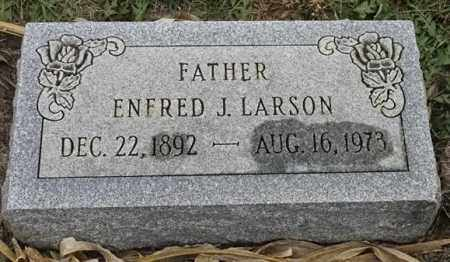 LARSON, ENFRED J - Lincoln County, South Dakota | ENFRED J LARSON - South Dakota Gravestone Photos