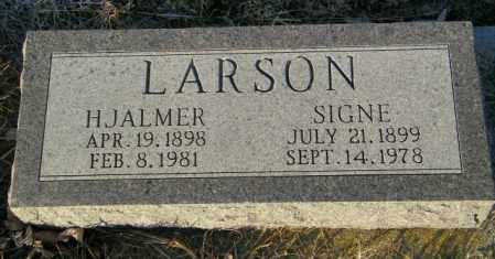LARSON, HJALMER - Lincoln County, South Dakota | HJALMER LARSON - South Dakota Gravestone Photos