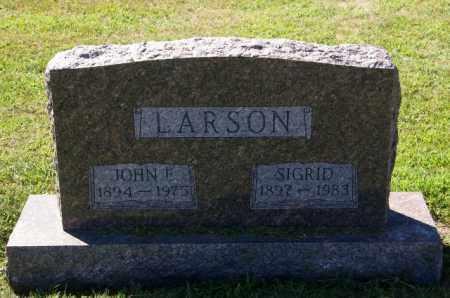 LARSON, SIGRID - Lincoln County, South Dakota   SIGRID LARSON - South Dakota Gravestone Photos
