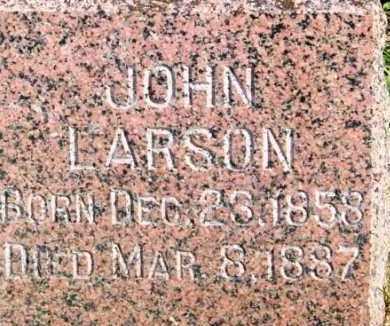LARSON, JOHN - Lincoln County, South Dakota | JOHN LARSON - South Dakota Gravestone Photos