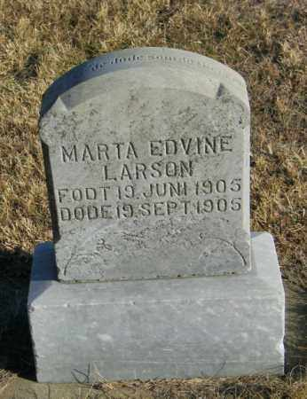 LARSON, MARTA EDVINE - Lincoln County, South Dakota | MARTA EDVINE LARSON - South Dakota Gravestone Photos