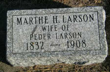 LARSON, MARTHE H - Lincoln County, South Dakota   MARTHE H LARSON - South Dakota Gravestone Photos