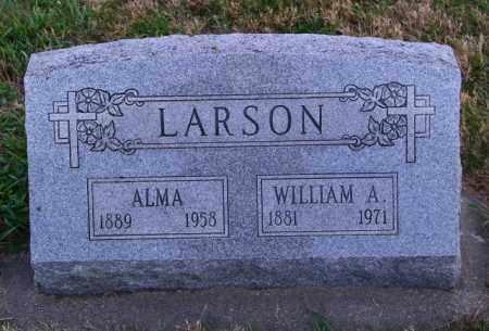LARSON, ALMA - Lincoln County, South Dakota   ALMA LARSON - South Dakota Gravestone Photos