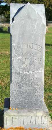 LEHMANN, WILLIAM F. - Lincoln County, South Dakota | WILLIAM F. LEHMANN - South Dakota Gravestone Photos