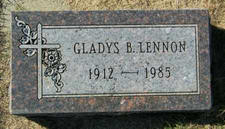 LENNON, GLADYS B. - Lincoln County, South Dakota | GLADYS B. LENNON - South Dakota Gravestone Photos